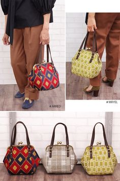 Handbags - I think they were my first fashion love (and if I had design skills, I would love to beco Diy Bags Purses, Cute Purses, Purses And Handbags, Patchwork Bags, Quilted Bag, Estilo Jackie Kennedy, Frame Purse, Classic Handbags, Insulated Lunch Bags