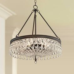 "Macey 20 1/4"" Wide Bronze Crystal Chandelier - #15E92 