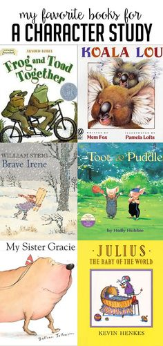 Favorite books for teaching character changes, comparing characters, and having a character study in a first or second grade classroom! Head over to the post to get language arts lesson ideas and questions for each book! Reading Strategies, Reading Skills, Teaching Reading, Reading Books, Reading Comprehension, Comprehension Strategies, Children's Books, Grade Books, Kid Books