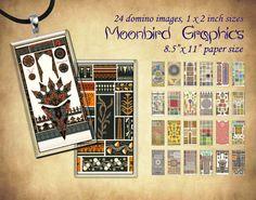 ETHNIC PATTERNS  Digital Collage Sheet  1 x 2 by MoonbirdGraphics