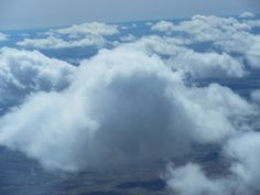 Flying above the clouds in Eastern Montana