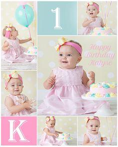 Baby Cake Smash Portrait Session ♥ #baby cake smash #baby photography