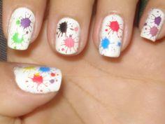 paint splatter nail stickers