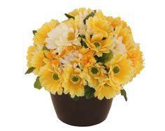 Flori pentru un zambet - Aranjament cu flori artificiale