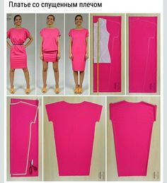 Ideas For Sewing Women Clothes Costura Diy Clothing, Sewing Clothes, Dress Sewing Patterns, Clothing Patterns, Fashion Sewing, Diy Fashion, Fashion Women, Cocoon Dress, Sewing Tutorials