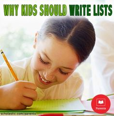 Lists are great writing activities for kids! Here are several list ideas for kids of all ages.