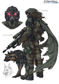 ArtStation - Titanfall fan art / scout sniper, Woo Kim