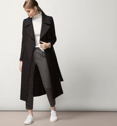 MASSIMO DUTTI long coat | @andwhatelse