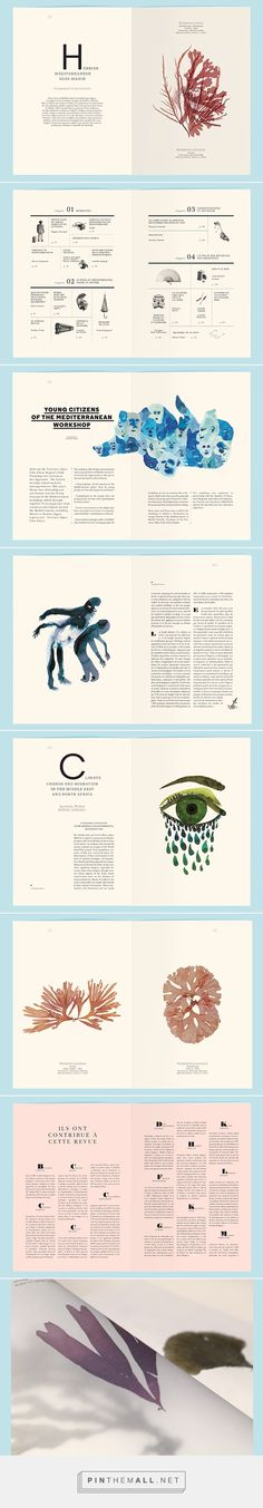La Revue Mediterranée on Behance - created via http://pinthemall.net