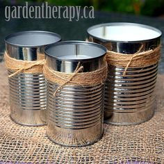 "Citronella Candles  Have a bug free garden party       cans  a double boiler (or here is a handy candle making kit)  wax (soy wax, paraffin wax, old candles)  pre-waxed wicks with tabs (150mm / 6"")  citronella oil for candle making (use 1 oz per lb of wax)  other scents for candle making like pine, mandarin orange, eucalyptus, peppermint)"