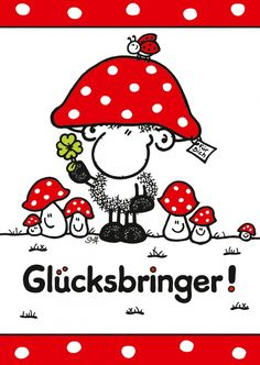 Glücksbringer | sheepworld | Echte Postkarten online versenden | sheepworld Easy Birthday Party Games, Sleepover Party, Happy Birthday Minions, Happy Birthday Cards, Painting Activities, Christmas Colors, Cartoon Drawings, How To Introduce Yourself, My Best Friend