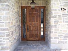 wooden door pair