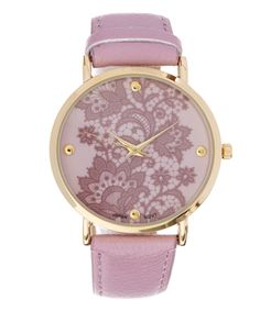 Another great find on #zulily! Purple & Goldtone Bracelet Watch by Geneva Platinum #zulilyfinds