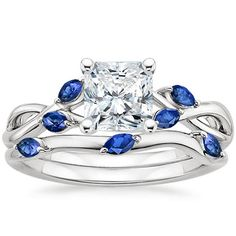 Platinum Willow Ring With Sapphire Accents from Brilliant Earth