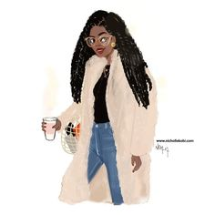 Are you ready for X-mas ? Black Girl Art, Black Women Art, Black Girls Rock, Black Women Fashion, Black Girl Magic, African American Art, African Art, Natural Hair Art, Black Cartoon