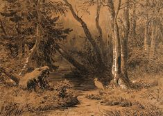Morning in a Pine Forest - Ivan Shishkin - WikiPaintings.org