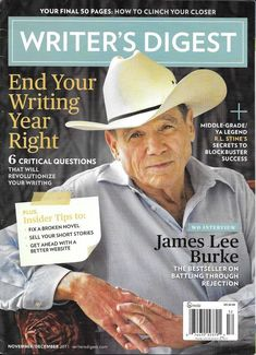 Writers Digest magazine James Lee Burke R.L. Stine Sell short stories Final page Pin for later! how to become a writer, online writing jobs, writing skill, writing a novel, writing poetry