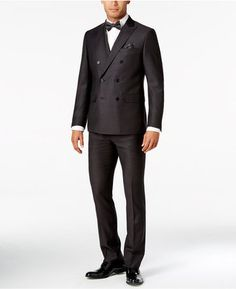 Tallia Men s Slim-Fit Double-Breasted Black Dot Suit 5a48a7112