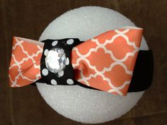 Quatrefoil Halloween Headband on Etsy, $8.00