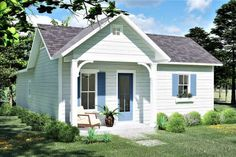 Small Cottage House Plans, Small Cottage Homes, Cottage Floor Plans, House Plans One Story, Cottage Plan, Cottage Style Homes, Best House Plans, Cottage Design, House Floor Plans