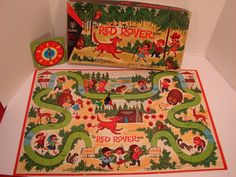 The Red Rover Game Vintage Board Game made by by Reclaimability