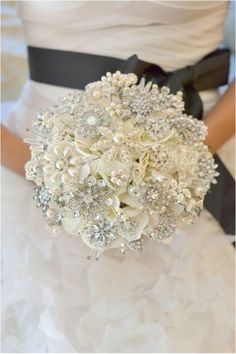 good-looking 100+ Sparkly Brooch Bouquet Wedding Ideas https://bridalore.com/2017/08/24/100-sparkly-brooch-bouquet-wedding-ideas/