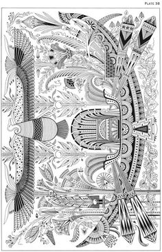 Welcome to Dover Publications - Egyptian Motifs in the Art Deco Style Motif Art Deco, Art Deco Design, Egyptian Symbols, Egyptian Art, Colores Art Deco, Art Nouveau, Tattoo Muster, Ancient Egypt Art, Pics Art