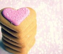 sparkle heart cookies