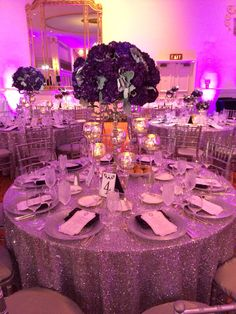 Purple Wedding Decor | LeAmber + Christopher Wedding | The Mayflower Hotel Wedding | Photography | DC Wedding | Wedding Planning by Favored by Yodit Events | DC Wedding Planner | Purple Wedding | Luxe Wedding | African American Wedding
