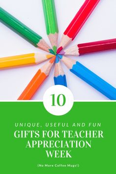 10 unique, useful and fun gifts for the teachers in your lives! Looking for something different to give teachers this year? Tired of giving coffee mugs? Check out these ideas!