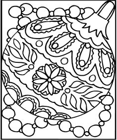 christmas ornaments coloring pages christmas ornament coloring sheets - Free Printable Ornament Coloring Page 2