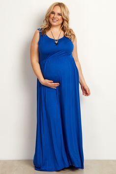 royal basic plus maternity maxi dress