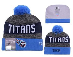 0fcb3cecd1b Men s   Women s Tennessee Titans New Era NFL 2016 Sideline Sprots Knit Pom  Pom Beanie Hat - Blue   Grey   Navy