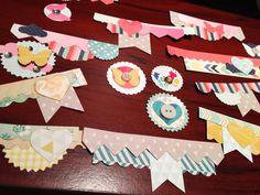 DIY embellishments using scraps   Workspace Wednesday ~ michelleun