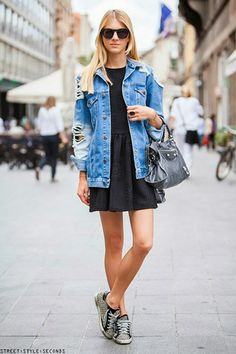 London calling - oversized jean jacket via LE CATCH