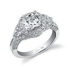 Sylvie Collection SY447,  $4870  Love,  Genesis Diamonds  www.genesisdiamonds.net  #sylviecollection #stunning #lovely