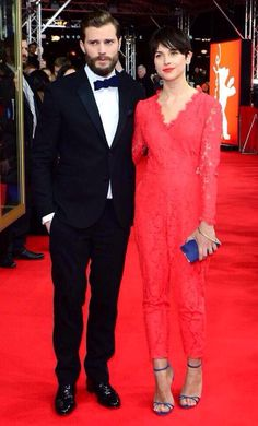 Jamie Dornan and his stunning wife, Amelia, at the Berlin premiere of Fifty Shades of Grey, Feb. 11, 2015.