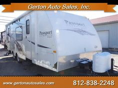 Used 2012 Keystone Passport 245RB Express, Travel Trailers For Sale in Mount Vernon, Indiana Gerton Auto Sales T1255A Description: This one-owner trade is exceptionally clean and well cared for. This unit features a double-door floorplan with a street-side - View this and other quality Travel Trailers at RVT.com Online Classifieds trader. Keystone Passport, Travel Trailers For Sale, Auto Sales, Mount Vernon, Rv For Sale, Double Doors, Side View, Recreational Vehicles, Indiana