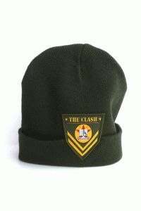 The Clash – Patch Knit Beanie In Army Green