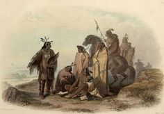 Crow Indians, as painted by Karl Bodmer in early 1840's: On a vast, windswept, upland prairie in the heart of Absaroka, Crow Country, approximately eight miles south west of Fort Smith, is a small, inconspicuous promontory. Closer inspection reveals 23 small U shaped rock, defensive bulwarks set up in circular formation as if the occupants were surrounded. It is readily apparent to any visitor that some kind of defensive battle must have taken place here long ago.