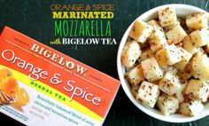Marinated Mozzarella with Bigelow Orange & Spice Tea #AmericasTea #shop #cbias
