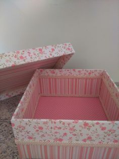 Caixa floral rosa