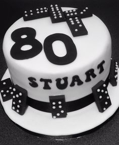 Domino cake GGrandmas birthday cake maybe do her age in dots