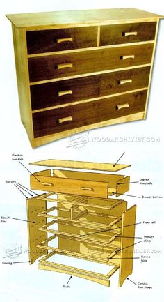 Chest of Drawers Plans - Furniture Plans and Projects | WoodArchivist.com