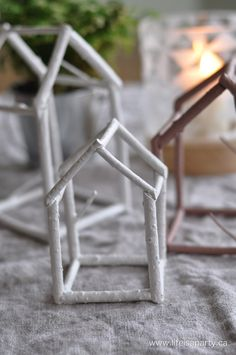 DIY twig house decor using dogwood branches or any other similar twigs. Easy to follow tutorial. Great nature made craft!