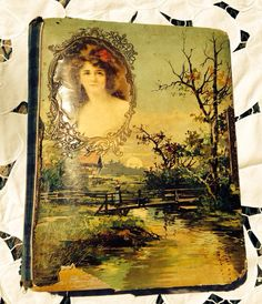 Vintage 1899 Victorian Celluloid Photo Album w/ by VintageGetup