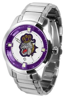 James Madison Dukes Men's Stainless Steel Outdoor Watch by SunTime. $121.95. Stainless Steel. AnoChrome Bezel. Men. Links Make Watch Adjustable. Officially Licensed James Madison Dukes Men's Stainless Steel Outdoor Watch. James Madison Dukes men's stainless steel dress or sports watch. James Madison Dukes timepiece features a quartz accurate movement, stainless steel band and your favorite collegiate logo. The Titan Steel's stylish design enables you to express your lo...