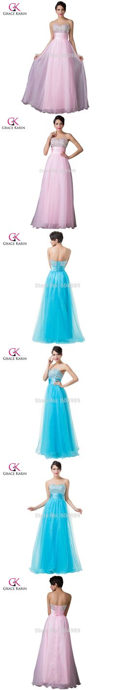 Grace Karin New Arrival Free Shipping Strapless Sweetheart Beaded Sequins Long Prom Dresses Pink Dark Turquoise CL4011