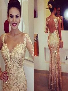 Long Custom Prom Dress,beading prom dress, gorgeous prom dress, sparkly prom dress, unique prom dress,gold prom dress,mermaid dress,one shoulder prom dress,2016 prom dress,popular dressPD008171