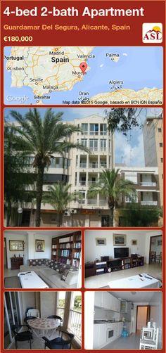 Apartment for Sale in Guardamar Del Segura, Alicante, Spain with 4 bedrooms, 2 bathrooms - A Spanish Life Valencia, Alicante Spain, Holiday Resort, Apartments For Sale, Terrace, Spanish, Mansions, Bedroom, House Styles
